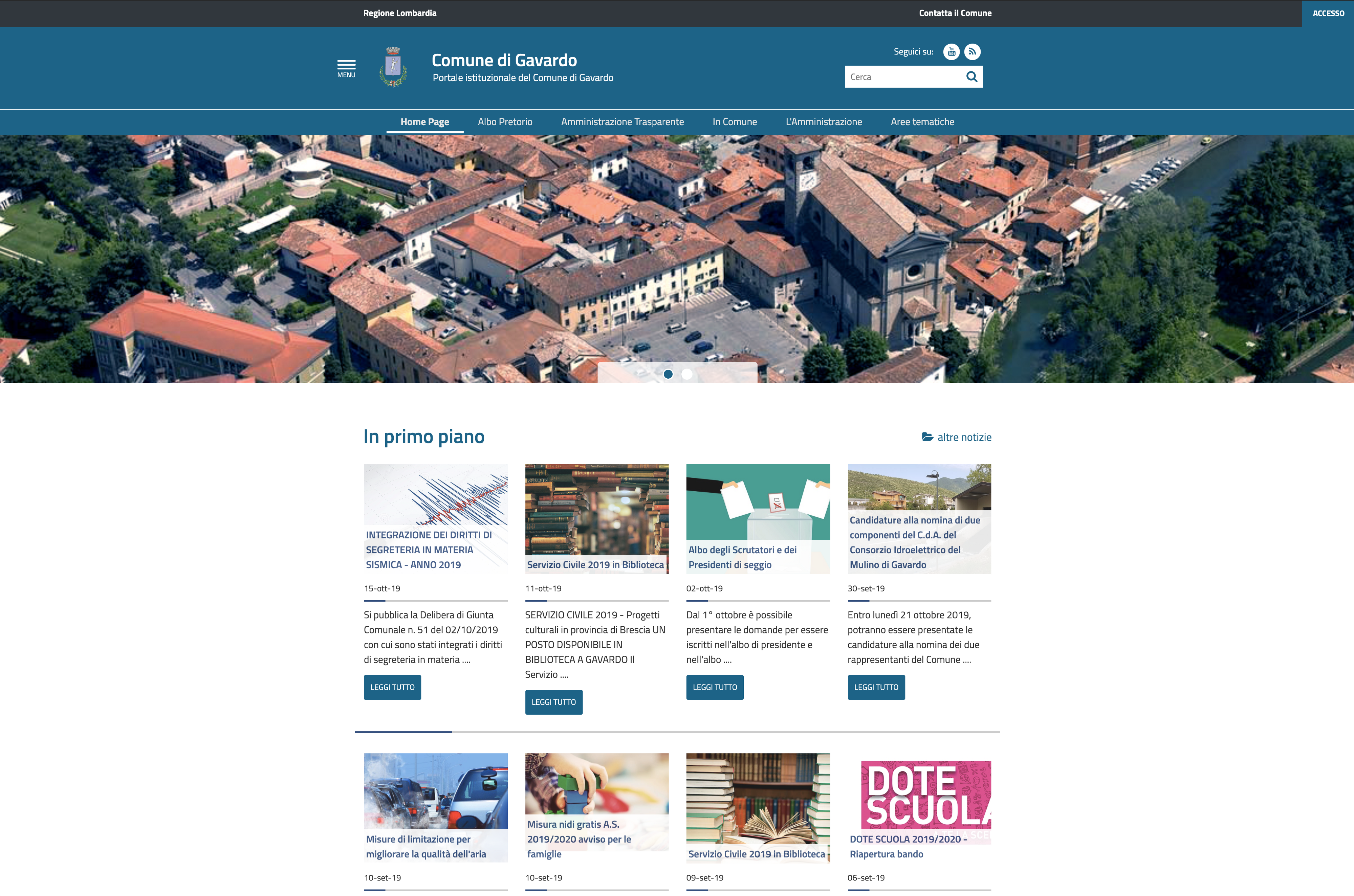 Gavardo adotta il nuovo sito istituzionale aderente alle linee guida AGID