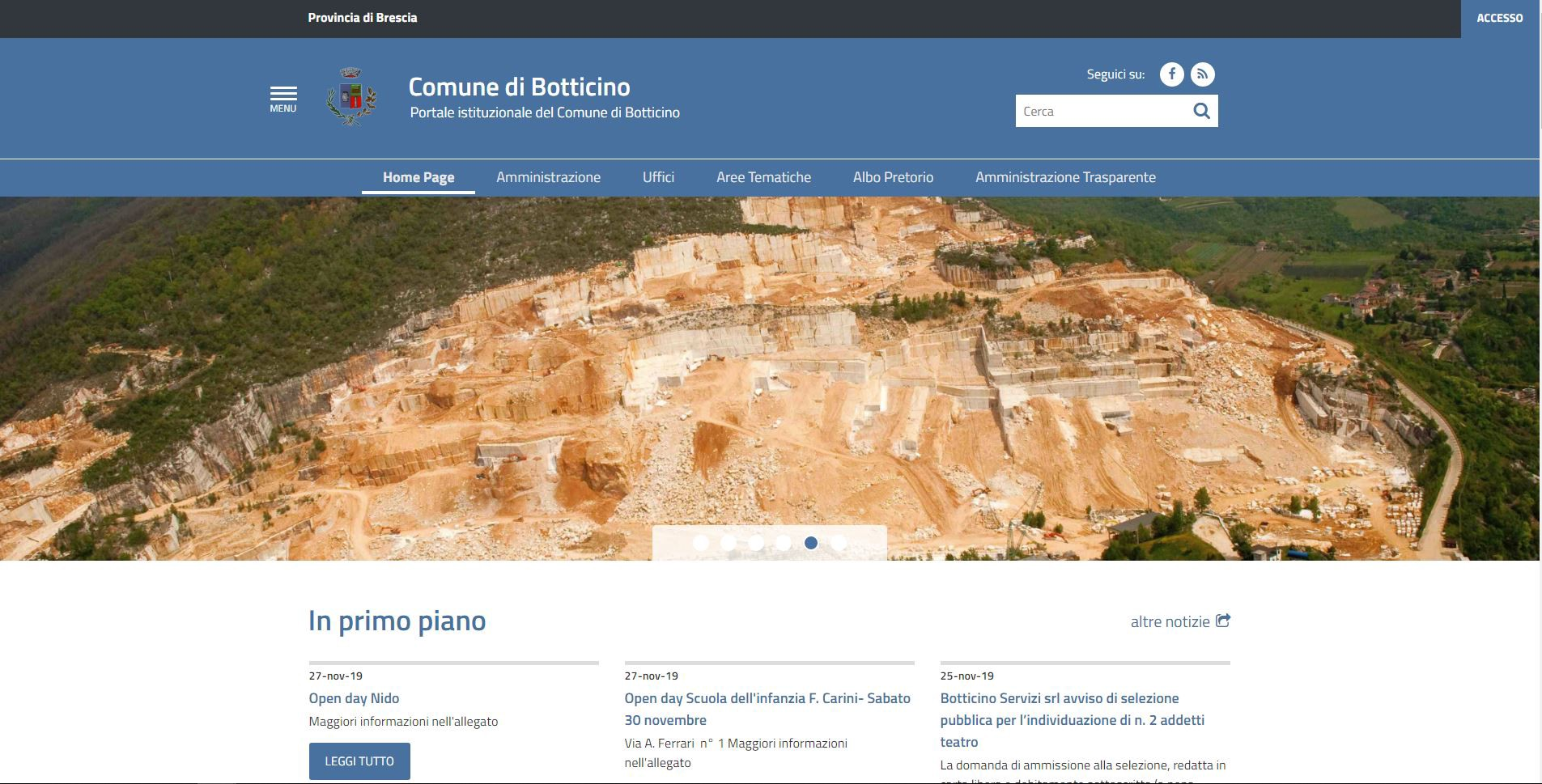 Continua la rivoluzione dei siti web comunali: è il turno di Botticino